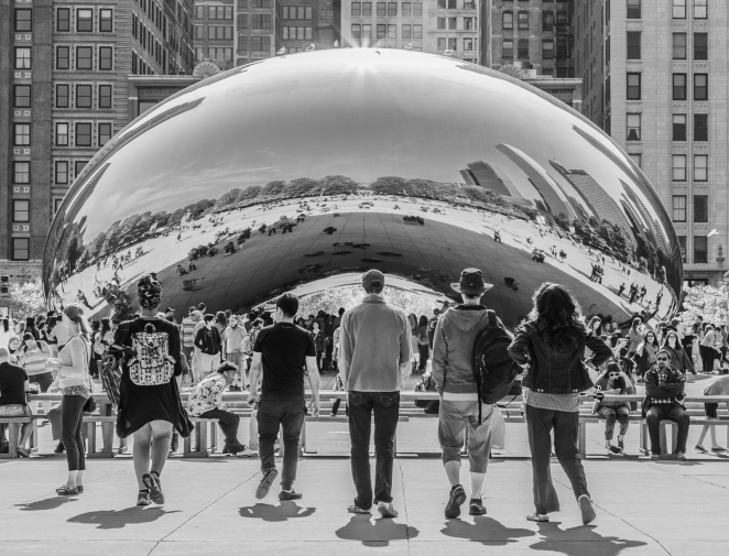 261/365 - Cloud Gate